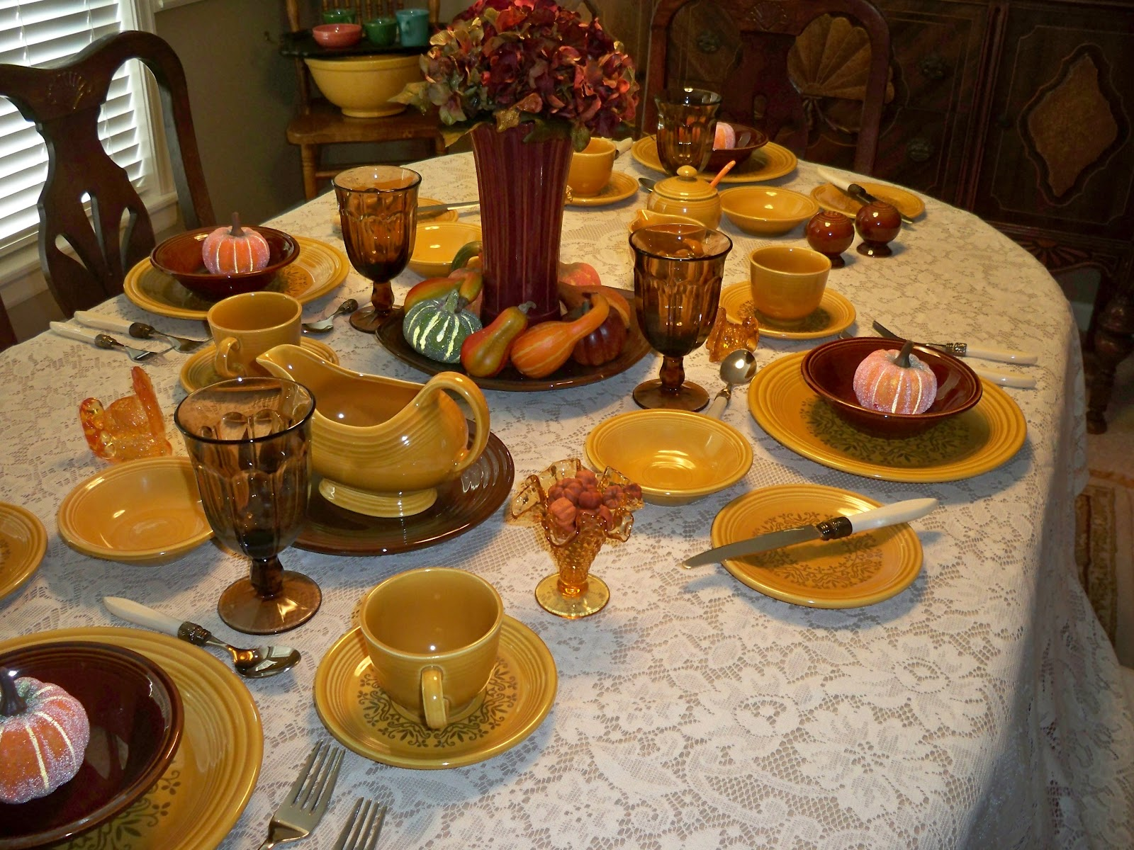 One Dish Dude Here Comes Fall And Fall Tablescapes