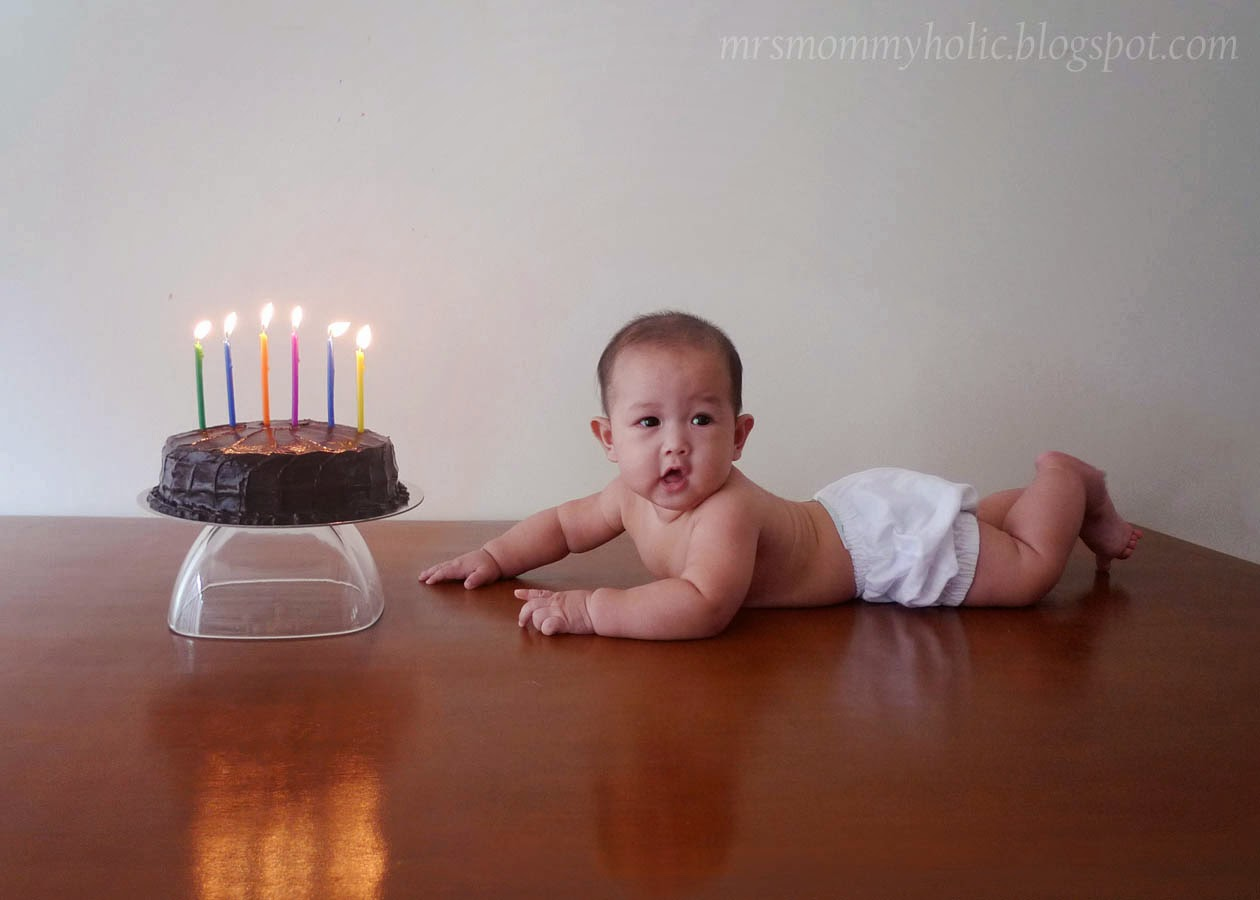 My Baby Skyler Is Now 6 Months Old And To Celebrate We Had A Little Photoshoot With His Cake