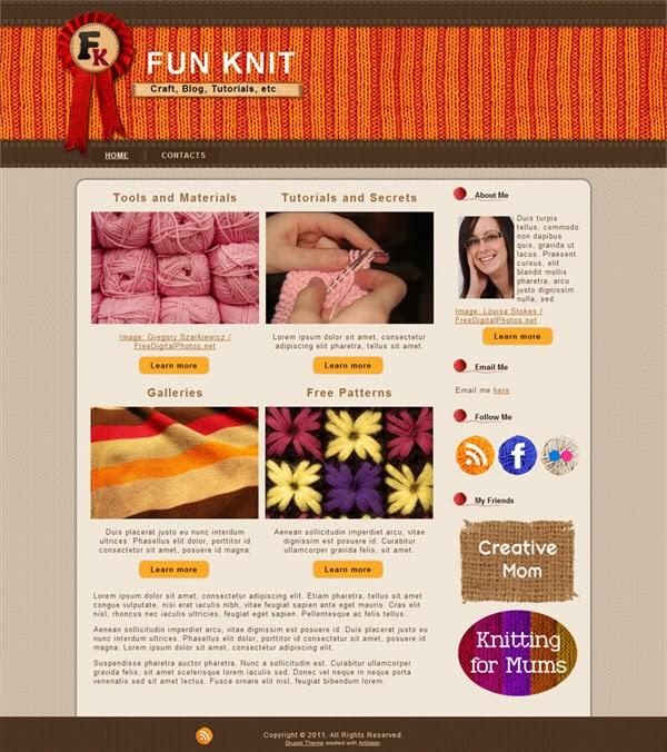 Fun Knit - Free Drupal Theme