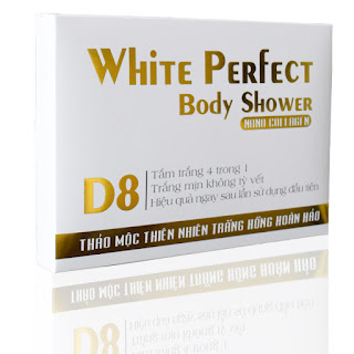 White Perfect Body Shower D8 kem tắm trắng 4 trong 1