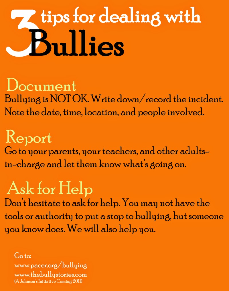 tips for dealing with bullies ~ The AntiBully Blog