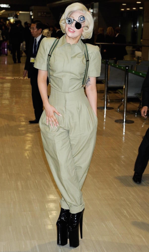 Lady gaga in jumpsuit