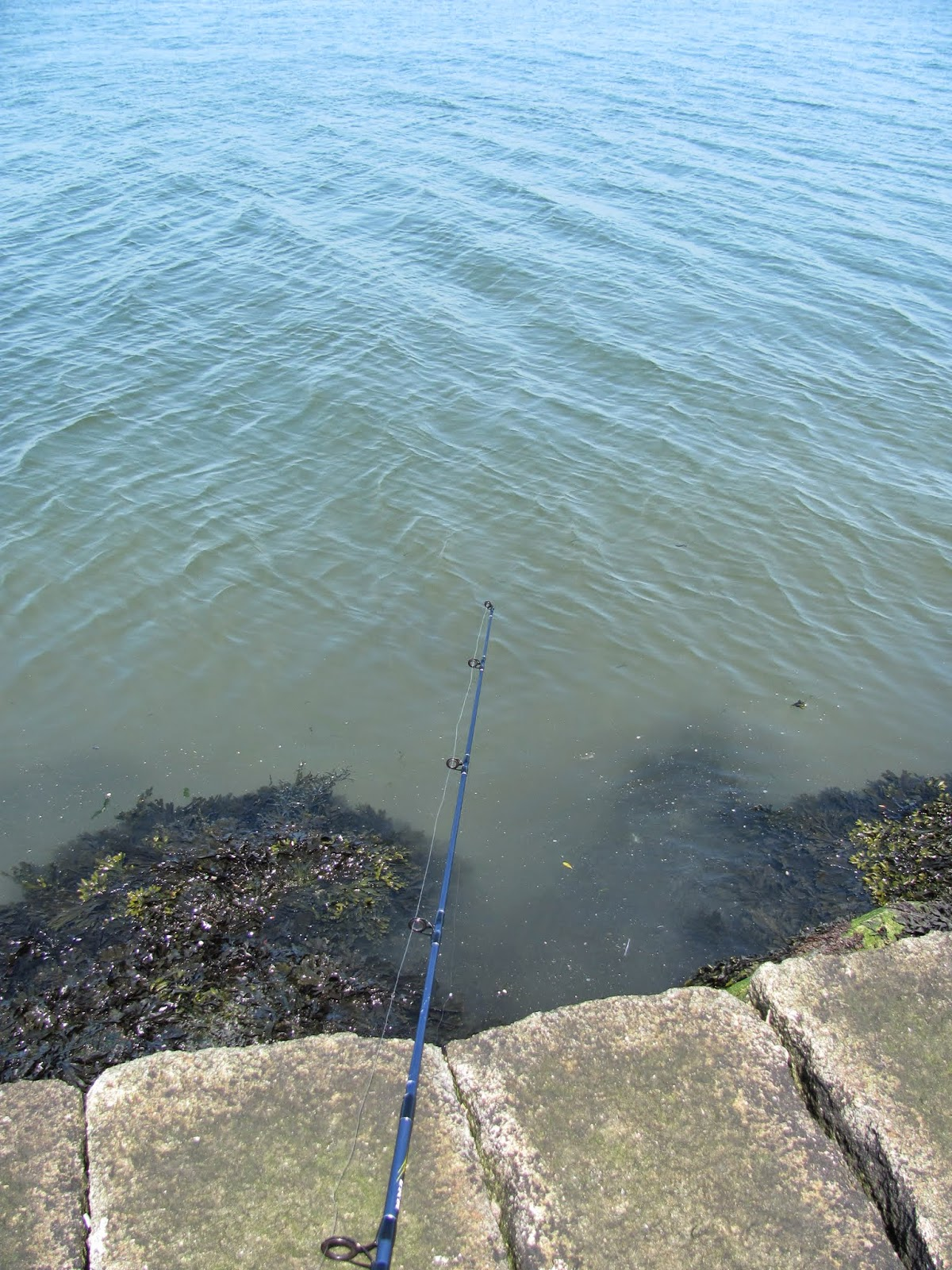 Fishing Spot at Poolbeg Lighthouse Dublin, Ireland