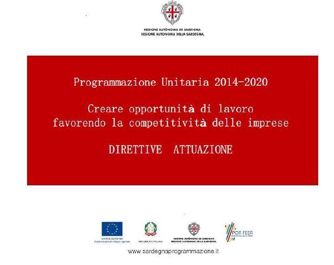 Accedi alle direttive di attuazione della Programmazione Unitaria 2014/2020 - Competitività Imprese