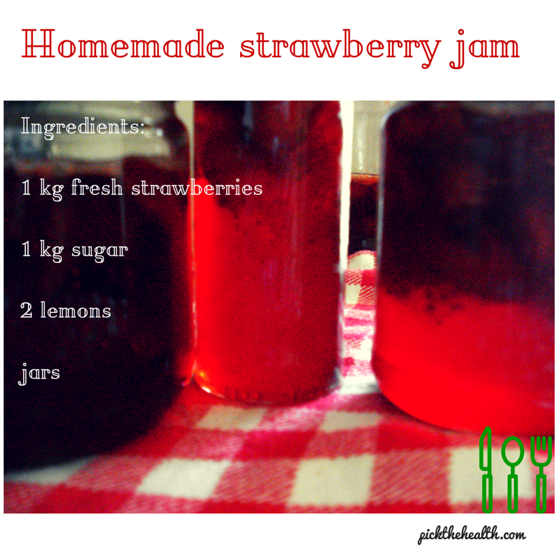 Pick The Health- homemade strawberry jam