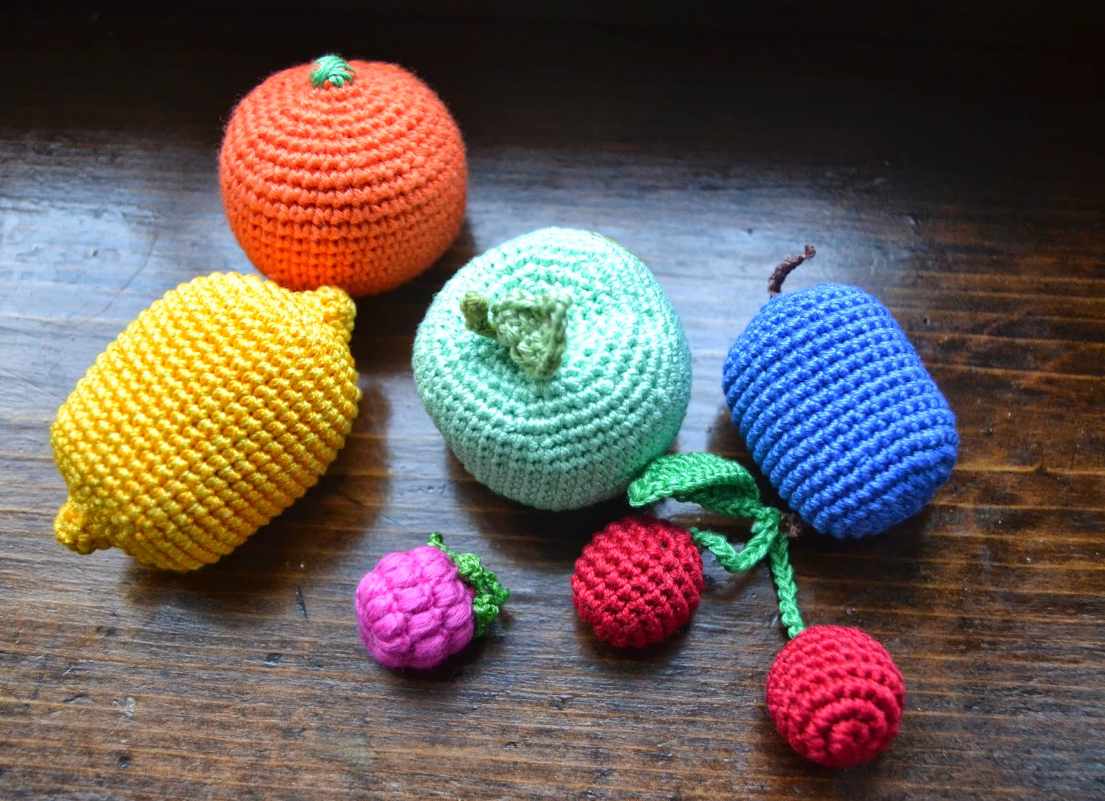 Crochet fruit set