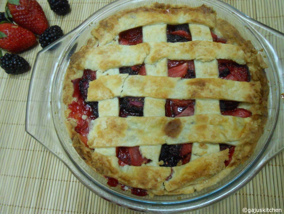 Strawberry Blackberry Pie