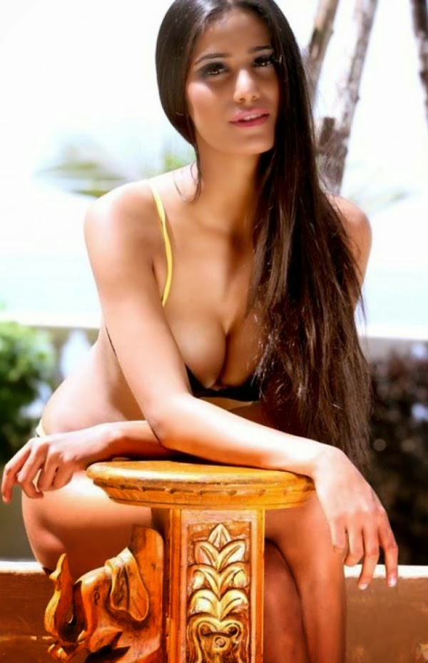 Poonam Pandey hot cleavage photo in bikini