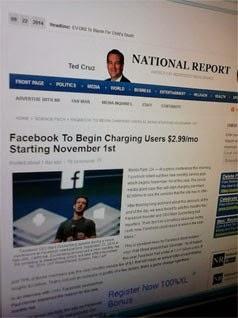 Pengguna Facebook Anda Akan DiKenakan Biaya