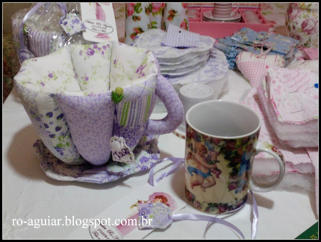 xícara de tecido em patchwork com PAP (DIY)