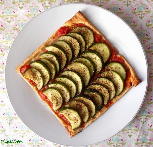 tarte fine courgette