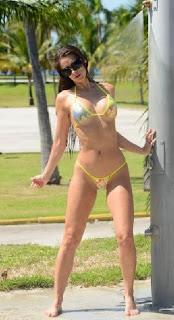 Anais Zanotti Yellow Bikini Miami