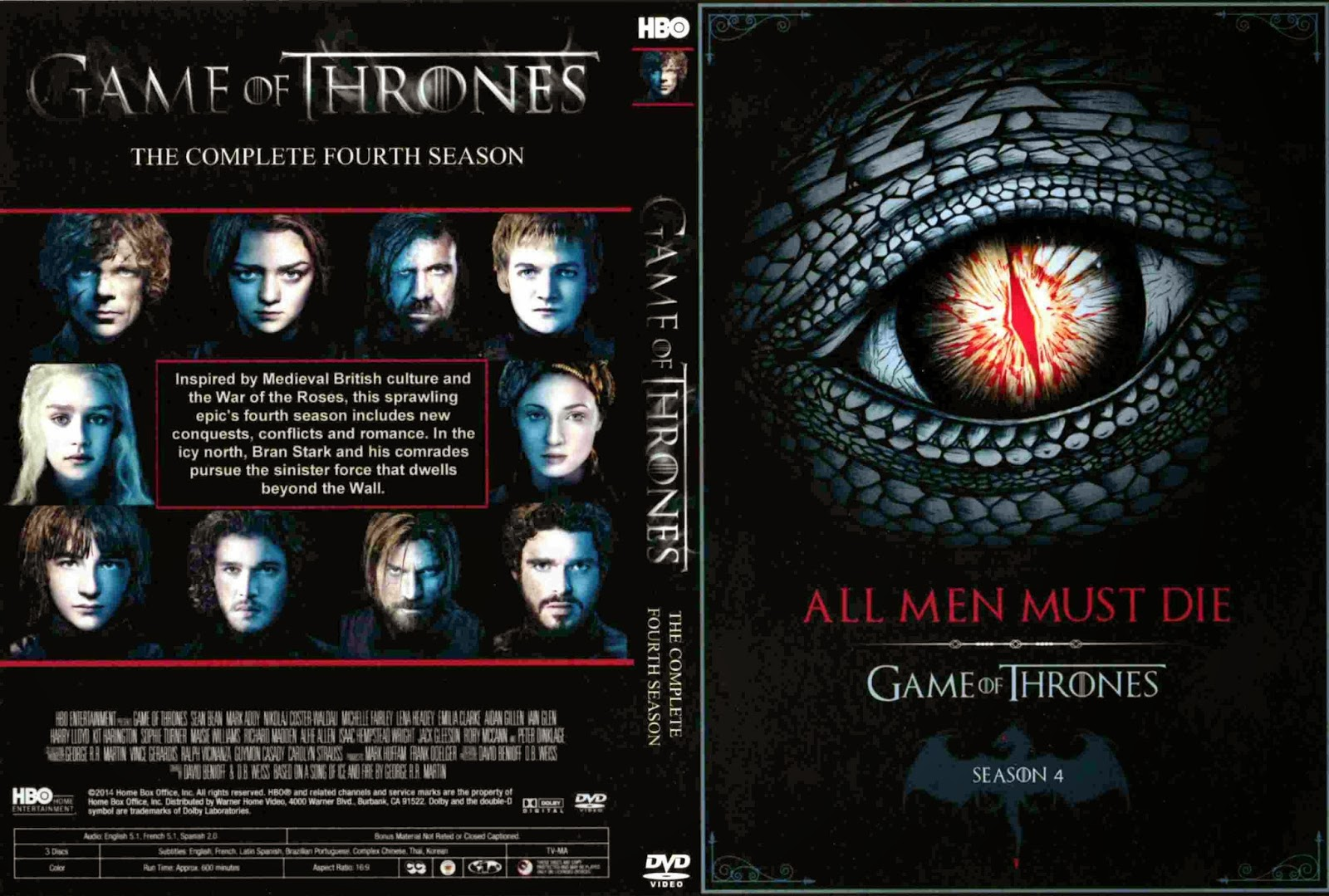 game of thrones season 4 dvd. Black Bedroom Furniture Sets. Home Design Ideas