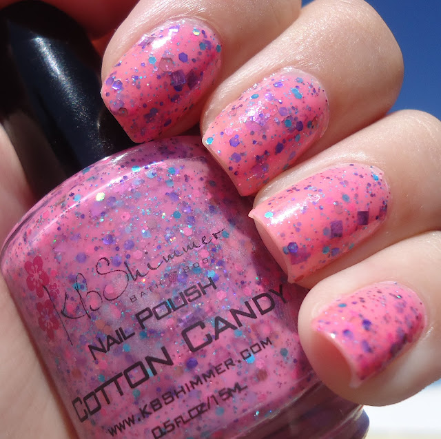 Cotton Candy Satin Fingernail Polish: Nail Polish Vixen: KBShimmer Cotton Candy