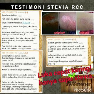 luka cepat kering dengan stevia