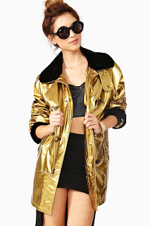 Vintage 1990's metallic gold Moschino jacket with black trim
