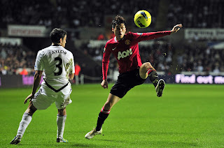 Swansea City Vs Mannchester United Ji Sung Park