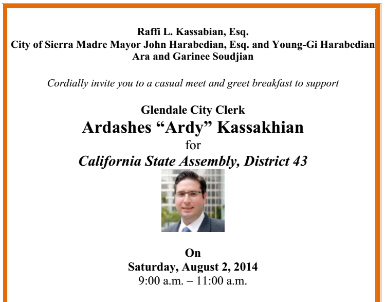The sierra madre tattler sierra madre mayor john harabedian here is your invitation a little pricey i know but think of this mans accomplishments m4hsunfo