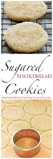 Sugared Shortbread Cookies Recipe - get the recipe at barefeetinthekitchen.com