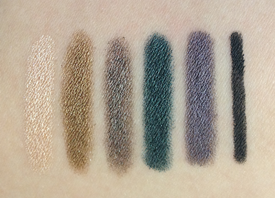 tarte holiday 2012 6-Piece SmolderEYES and Skinny SmolderEYES Collector's Set swatches