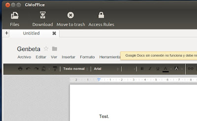 Woffice, integrating Google Docs with the Ubuntu desktop