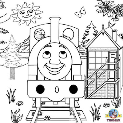 Free Coloring Pages For Boys Worksheets Thomas The Train Pictures