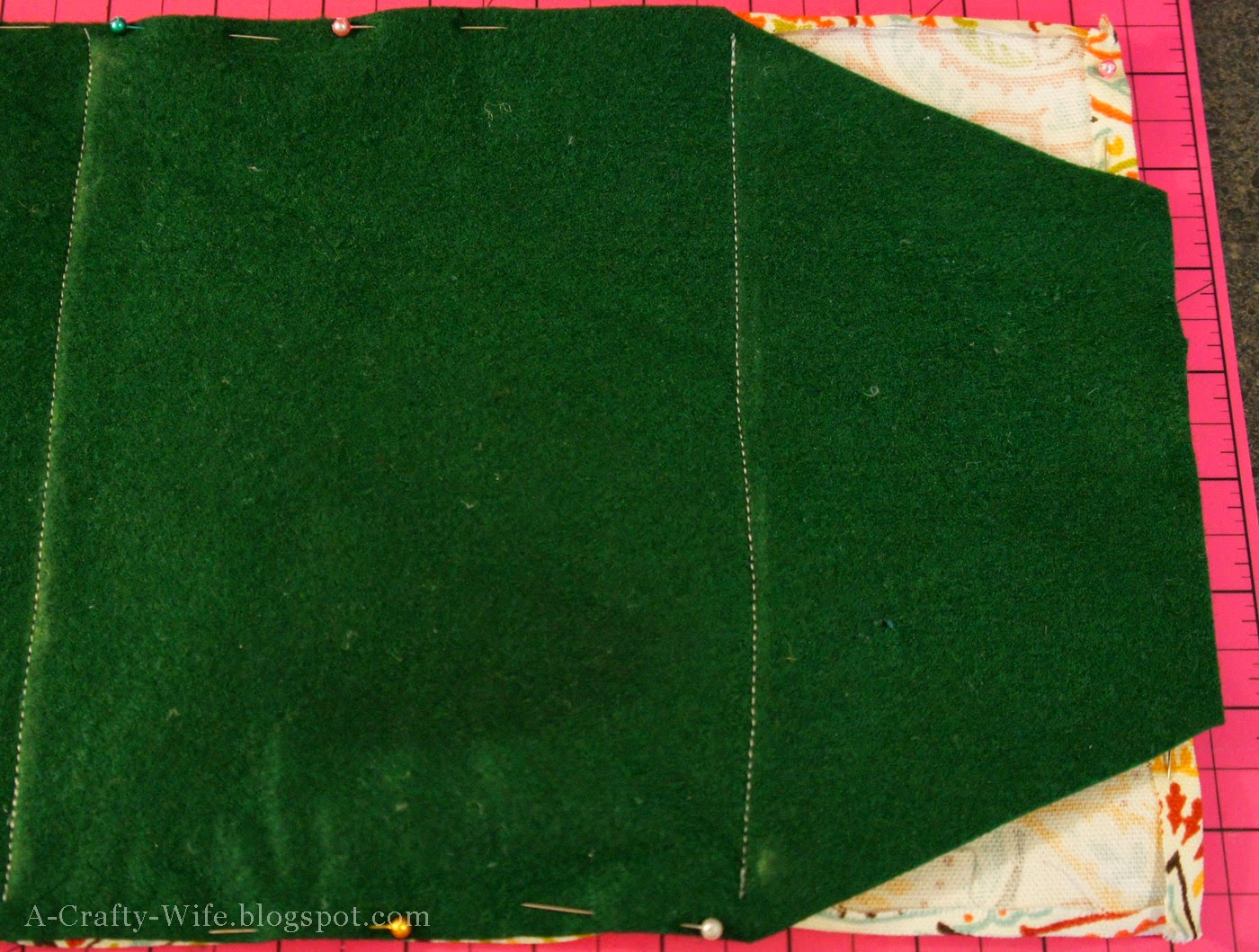 Cut the felt iPad case closing flap first | A Crafty Wife