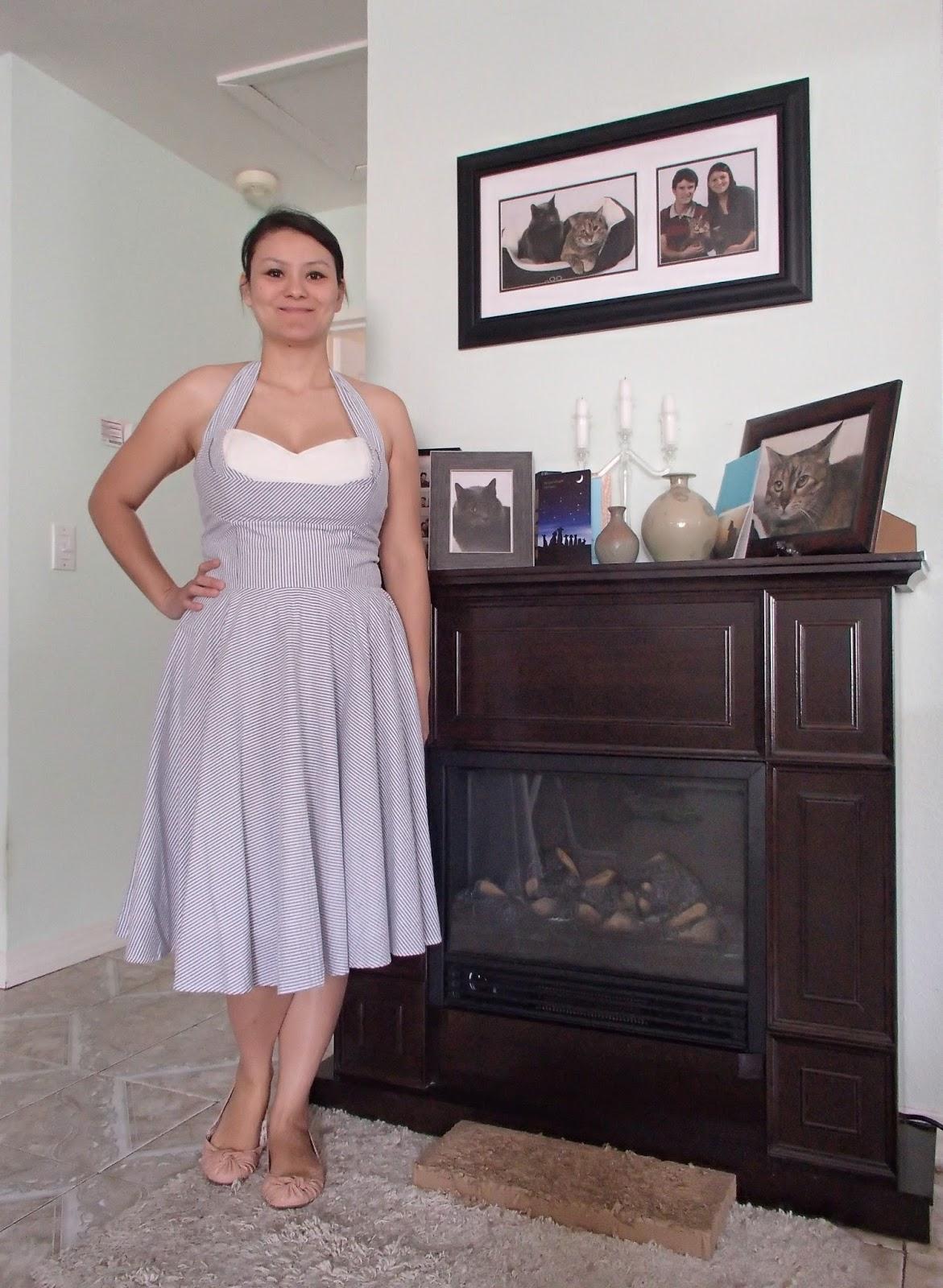 Silver Cat Tea Party: Dress Review: Trashy Diva Seersucker for Summer