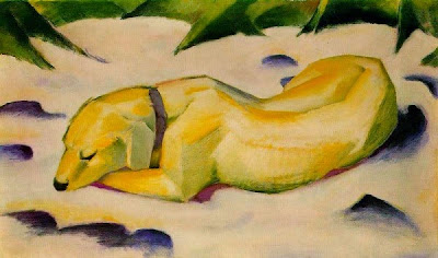 Gos estirat a la neu (Franz Marc)