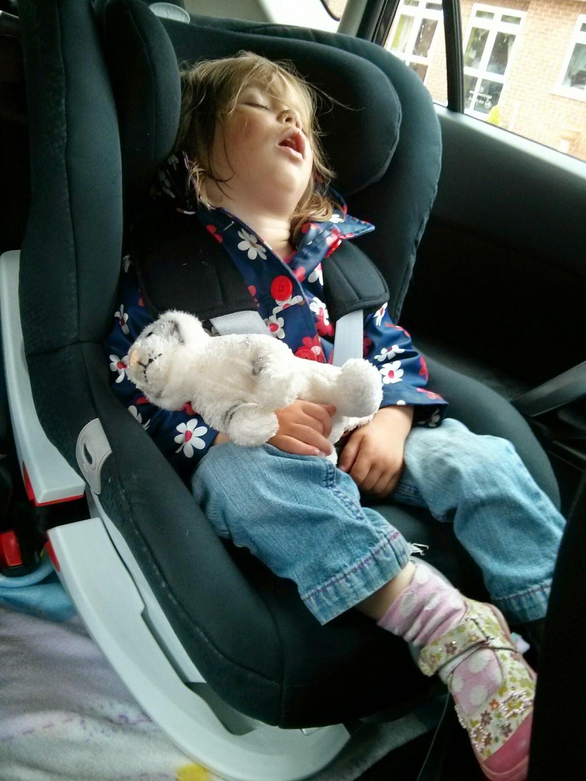 Sleeping in Britax KIng II LS
