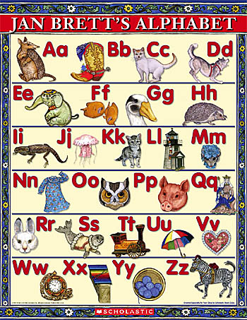 Alphabet poster from jan brett