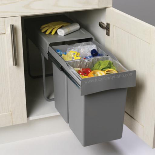 Kits de cubos de basura para cocina tu cocina y ba o - Cubos basura cocina ...