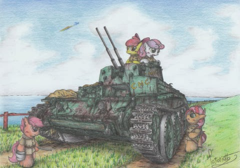 no. 209 Cutie Mark Crusader AA Tank