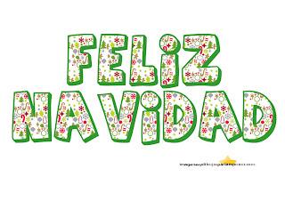 letras infantiles de feliz navidad