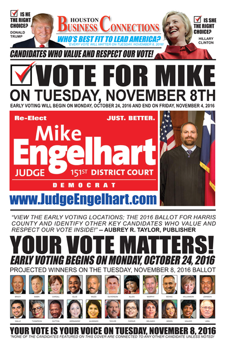 JUDGE MIKE ENGELHART VALUES OUR VOTE, SUPPORT AND COMMUNITY!