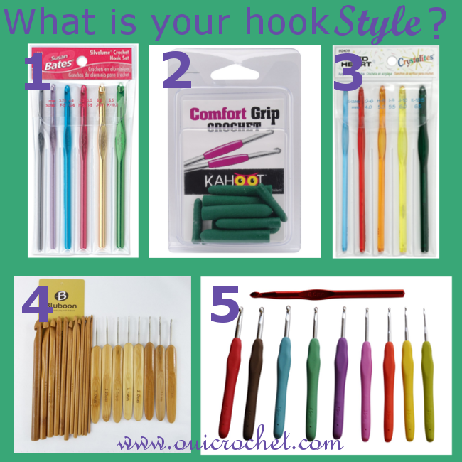 Crochet hooks, crochet hook style, Crochet Resources,