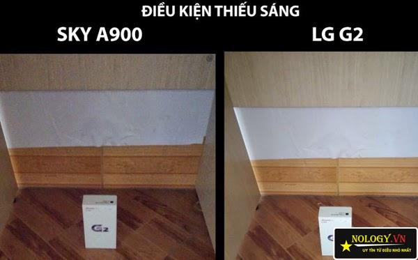 Sky A900 xách tay và LG G2 đại chiến.
