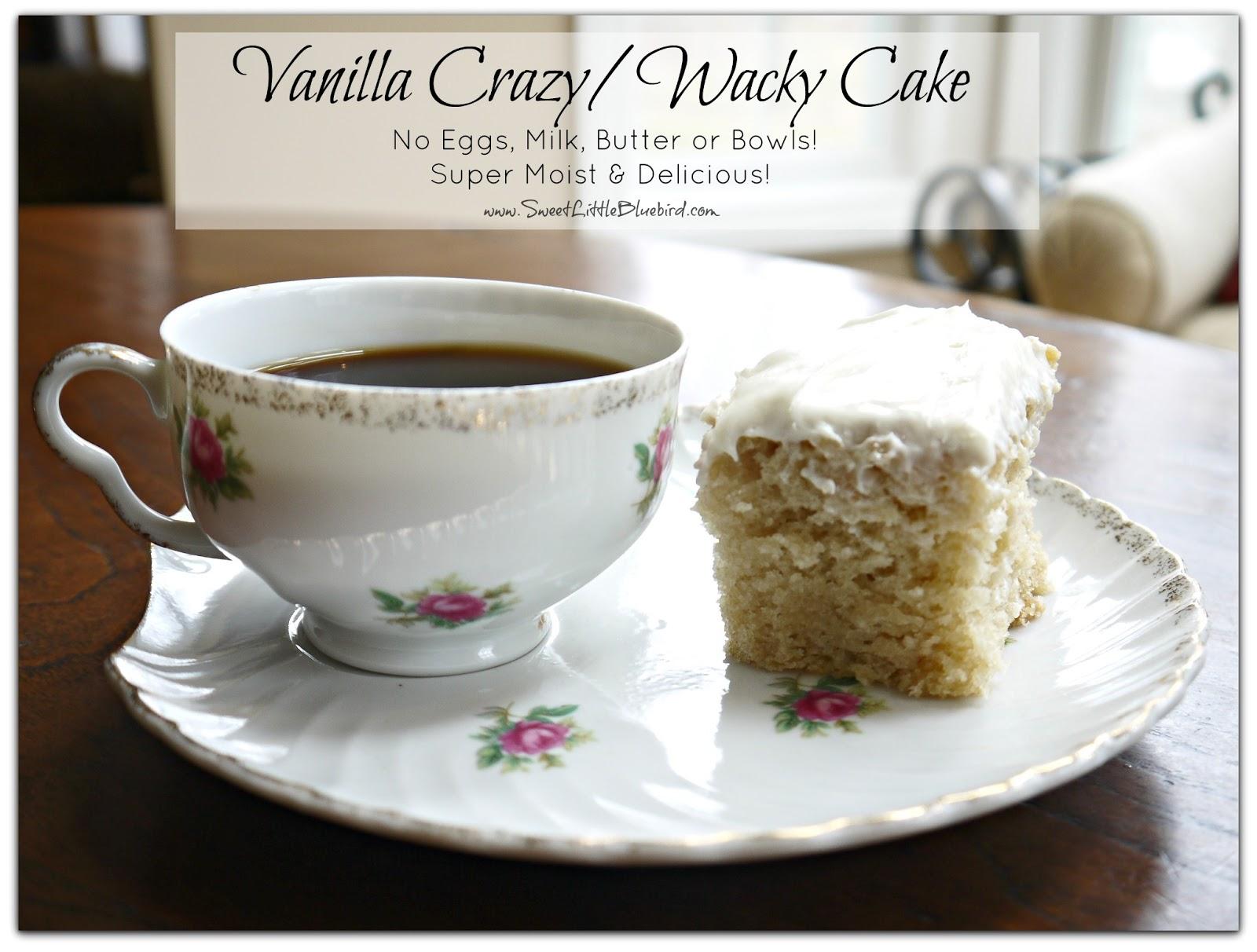 Wacky Cake Cupcakes Vanilla