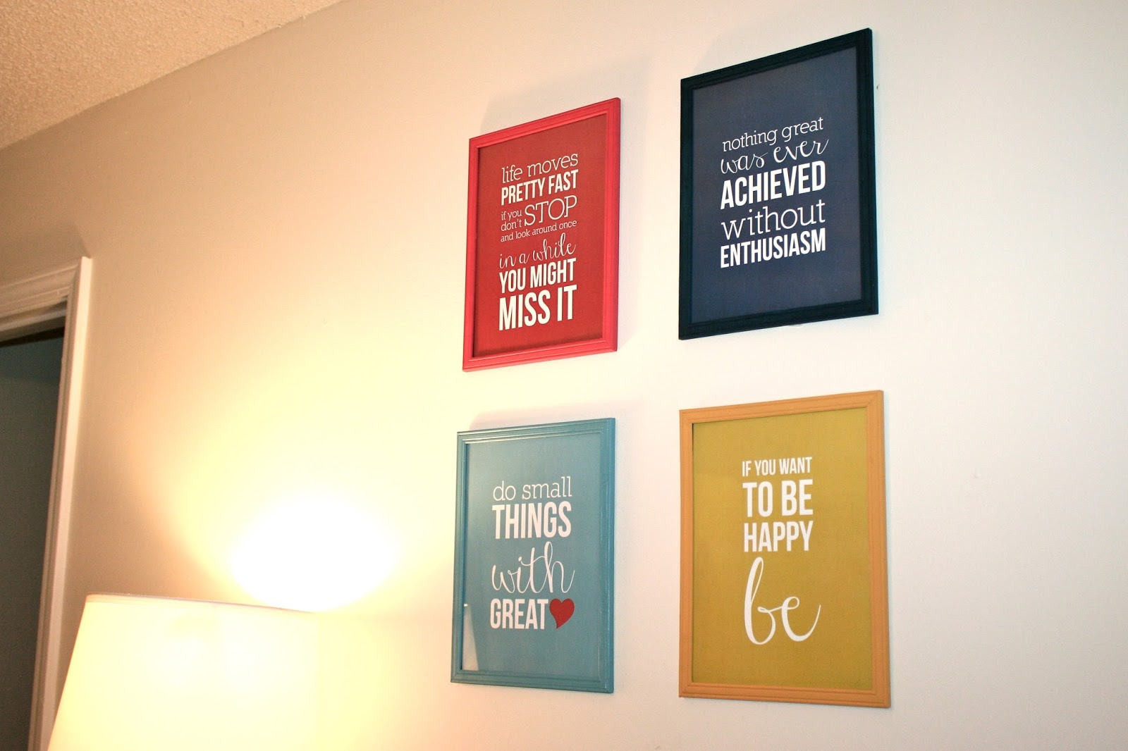 small things diy colorful frames