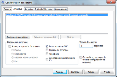 Como optimizar arranque Windows 7