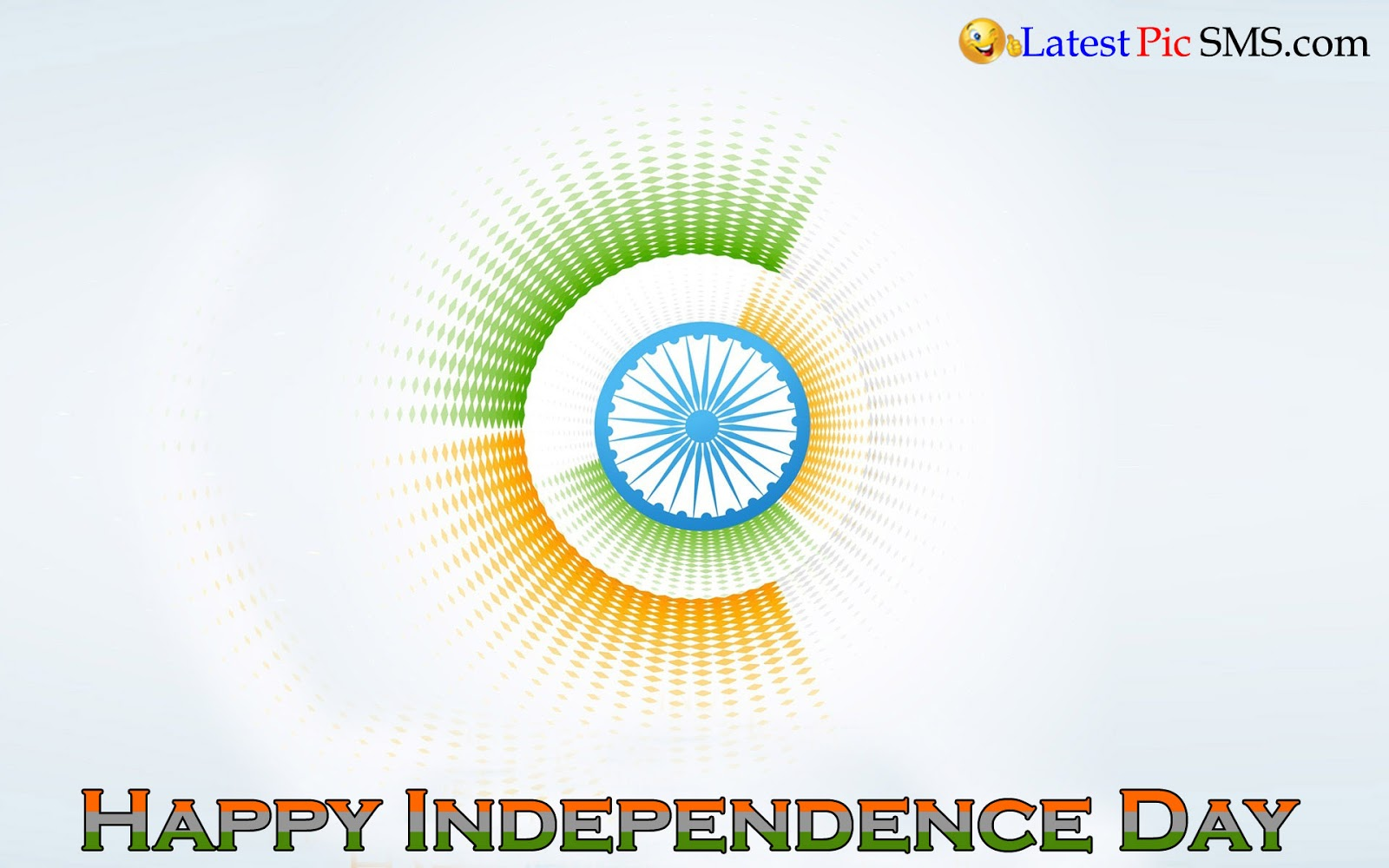Happy Independence Day Tricolor Circle Picture