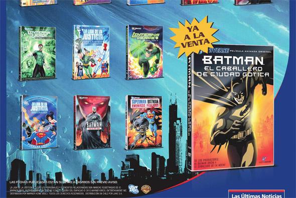12 DVDs de Superheroes DC - Las Últimas Noticias