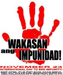 Wakasan ang Impunidad!