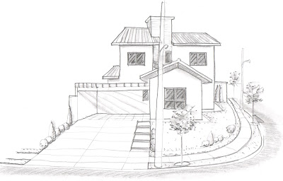 O desenho feito à mão livre demonstra envolvimento pessoal do arquiteto no trabalho, uma vez que o uso da grafite não pode ser terceirizado para um estagiário.