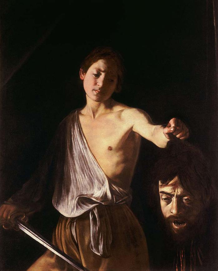 David with the Head of Goliath caravaggio
