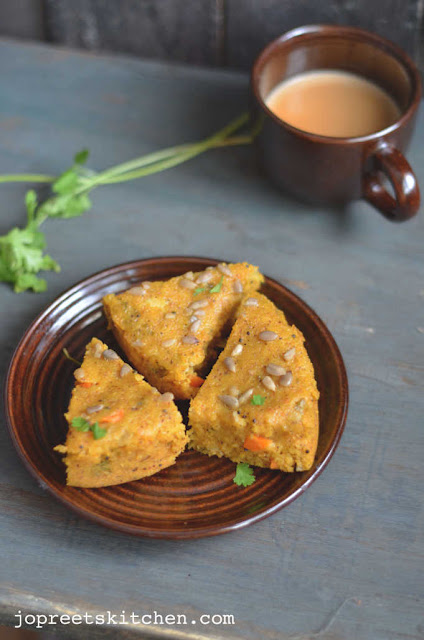 Savory Semolina Cake using Pressure Cooker