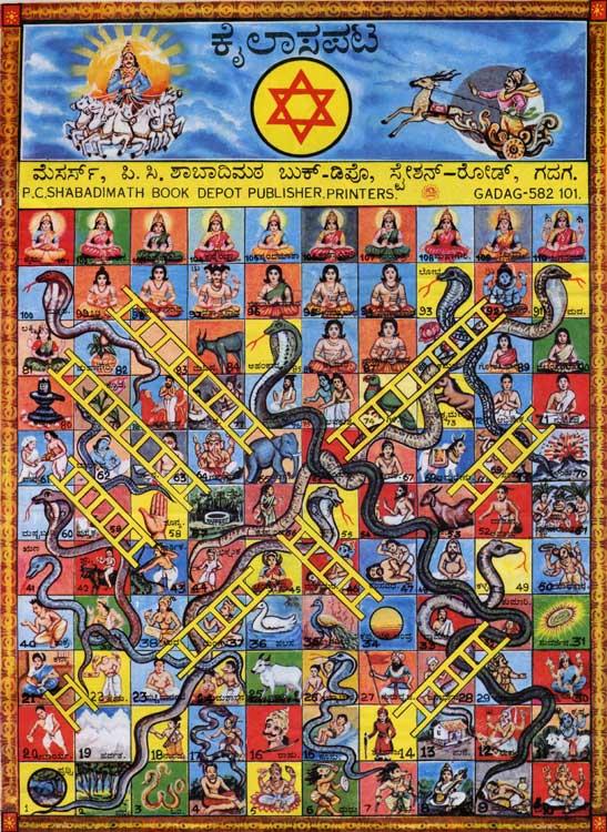 Traditional board games of india kailasa pata a version of snakes