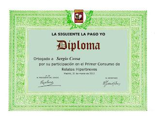La siguiente la pago yo - Diploma