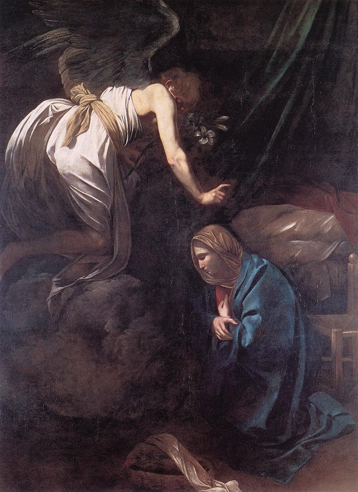 caravage annunciation painting