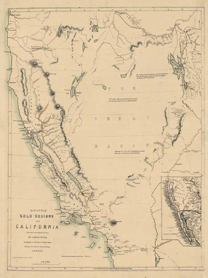 California Gold Rush Map  Bing Images